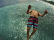 Cliff Jump Ceningan